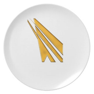 gold logo plate
