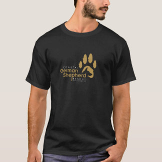 Gold Logo Shirt - Coastal German Shepherd Rescue