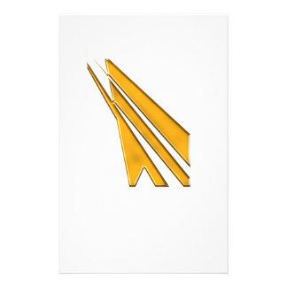 gold logo stationery