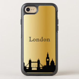 Gold London Skyline Silhouette Case