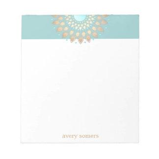 Gold Lotus Flower Mandala Notepad