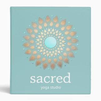 Gold Lotus Mandala Yoga and Meditation Binders