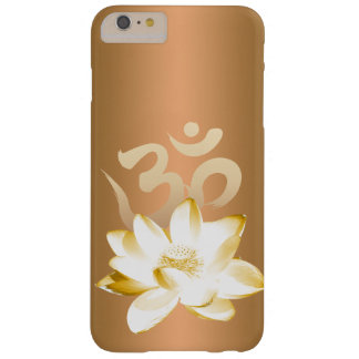 Gold Lotus & Om Symbol Yoga Barely There iPhone 6 Plus Case