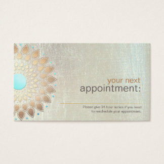 Gold Lotus Salon and Spa Appointment Card