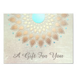 "Gold Lotus Salon and Spa Gift Certificate 4.5"" X 6.25"" Invitation Card"