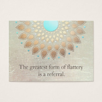 Gold Lotus Yoga and Meditation Referral Card