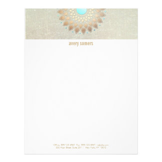 Gold Lotus Yoga and Meditation Teacher Health Spa Letterhead