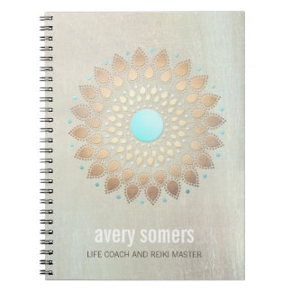 Gold Lotus Yoga and Meditation Teacher Wellness Notebooks
