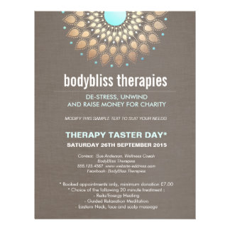 Gold Lotus Yoga Holistic Health Therapist Flyer