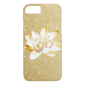 Gold Lotus & Yoga Om Symbol Gold Glitter iPhone 7 Case