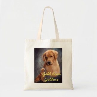Gold Love Goldens Tote Bag
