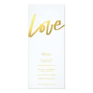Gold Love Menu Custom Invite