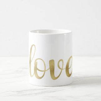 Gold love mug