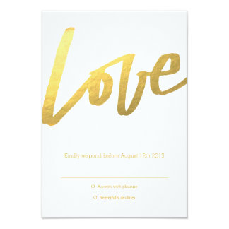 Gold Love RSVP Card