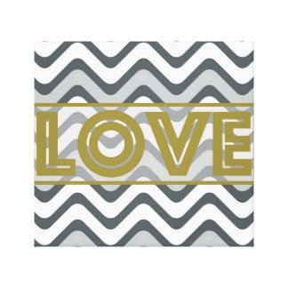GOLD LOVE Wrapped Canvas