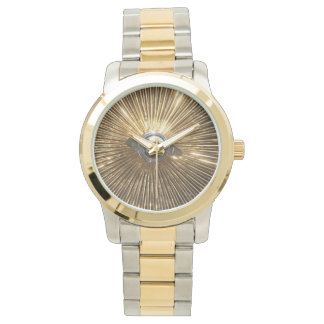 Gold Lowrider Spokes Wire Wheels Watch