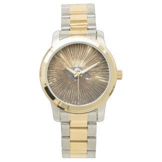 Gold Lowrider Spokes Wire Wheels Watch