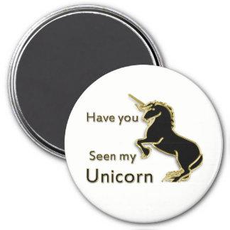 Gold magical fairytale unicorn magnet