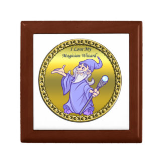 Gold Magical magician sorceress purple wizard Gift Box