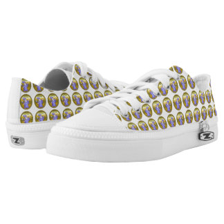 Gold Magical magician sorceress purple wizard Low-Top Sneakers