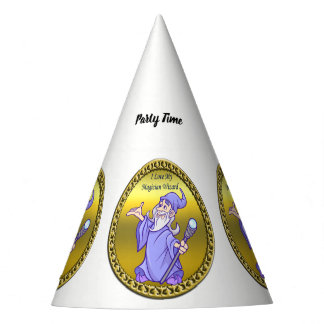 Gold Magical magician sorceress purple wizard Party Hat