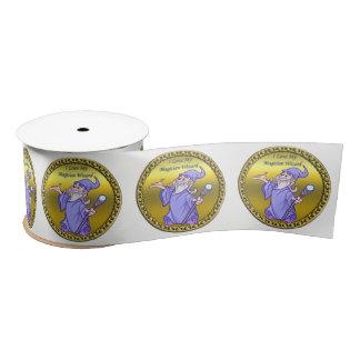 Gold Magical magician sorceress purple wizard Satin Ribbon