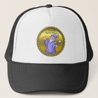 Gold Magical magician sorceress purple wizard Trucker Hat