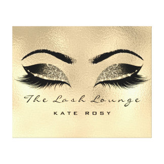 Gold Makeup Artist Beauty Browns Lashes Extension Canvas Print