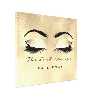 Gold Makeup Artist Beauty Browns Studio Lashes Canvas Print