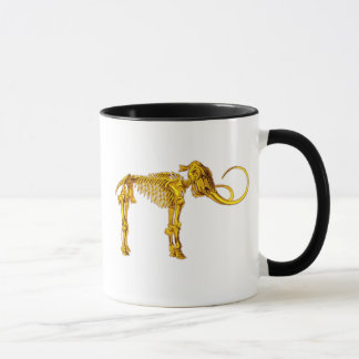 Gold Mammoth Skeleton Mug