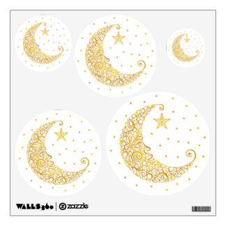 Gold Man in the Moon Wall Decals