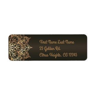 Gold Mandala Bronze Brown Glam Modern Wedding