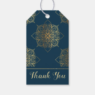 Gold Mandala Damask Pattern Gift Tags
