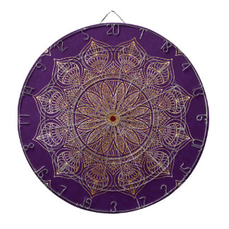 Gold mandala dartboard