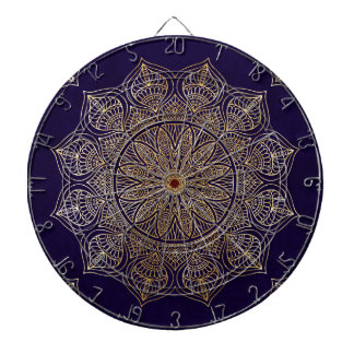 Gold mandala dartboards
