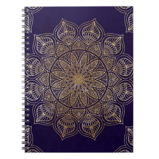 Gold mandala spiral note books