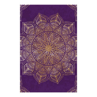 Gold mandala stationery paper