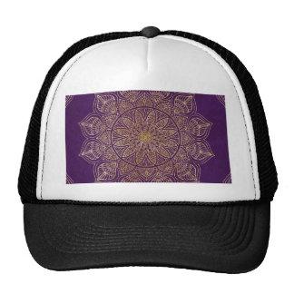 Gold mandala trucker hat