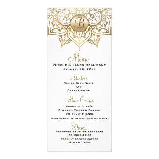 Gold Mandala White Modern Elegant Wedding Menu