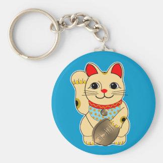 Gold Maneki Neko Keychain