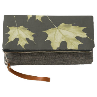 Gold maple leaves clutch
