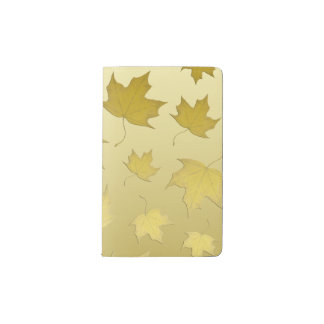 GOLD MAPLE LEAVES - Moleskin notebook
