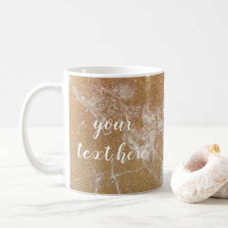 gold marble coffee mug