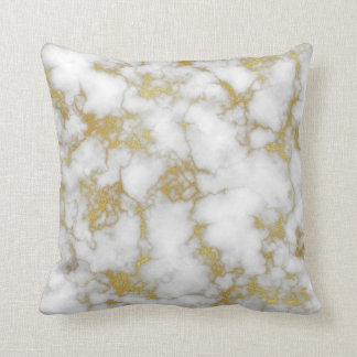 Gold marble cushion