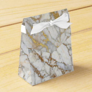 Gold Marble Favor Box