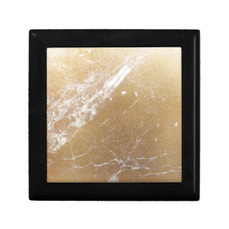 gold marble foil gift box