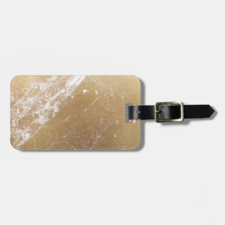 gold marble foil luggage tag