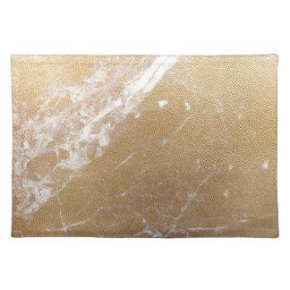 gold marble foil placemat