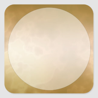 Gold Marble Label Sticker Large Square