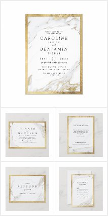 Gold Marble Luxury Modern Wedding Suite
